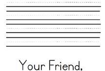 Kindergarten-Letter Writing