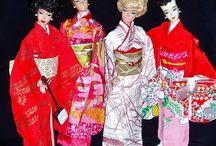 Barbie en vrienden in kimono