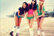 Teen Roller skate Fun