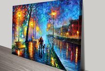 Leonid Afremov / We are an authorised seller of prints by Leonid Afremov. He is a talented modern day contemporary impressionist artist based in the USA and Mexico specialising in oil on canvas using a palette knife to apply the paint.