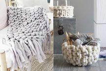 Maxi tricô decoração