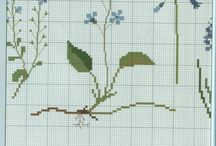 WILDFLOWERS*CROSS STITCH-EMBROIDERY