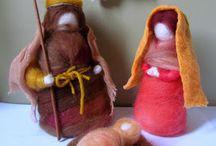 muñecos de vellón navidad