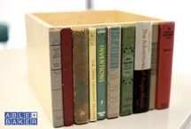 recycle + books / Enjoy some of our favoritef recycled and repurposed DIY book projects - much better alternatives than a life doomed to the landfill.