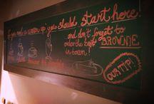 Chalkboard in Chili Bar