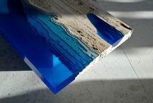 Glass wood resin