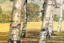 Trees in painting