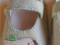 Sapatinho de Bebê de feltro
