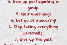 Things worth giving up