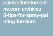 Spay painting furniture