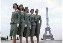 stewardess fashion,hairstyles