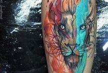 tatoo leão/tigre