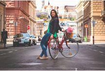 Vintage Bringa -Diana Rogleva / vintage bicycle- Budapest- spring- Diana Rogleva