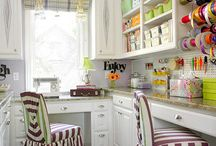 Craft room/office space / by Cheri Willoughby