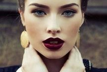 Dark Lips Wedding Make Up