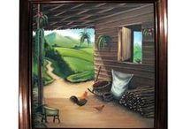 paisajes con casitas