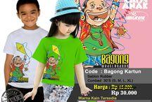 SALE KAOS ANAK / Kaos anak tema wayang, Bahan cotton combed 30s, IDR 30.000