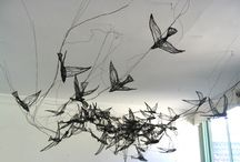 birds wire and paper
