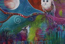 Intuitive Art by Susan Farrell Art. www.susanfarrellart.com.au