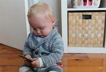 Baby boys knitting