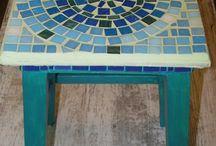my mosaic art / mosaic glass mirror & paint my work