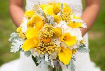 Żółte bukiety ślubne