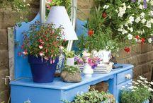 bepflanzter gartenschrank