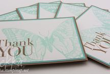 Make in a Moment Cards / Cards that look great but only take a moment and a few supplies to make