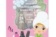 Girl Spa Sleepover Birthday Party Suite