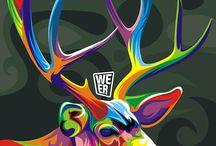 Animales vectoriales-colores