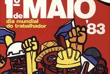 Primero de mayo: Día Internacional de los Trabajadores / Para conmemorar el Día del Trabajador hemos hecho una recopilación de carteles de distintas épocas y países