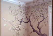 Tree painting on the wall