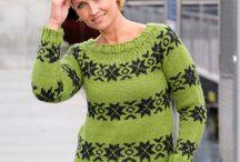 Strikkeoppskrifter / Islandskinspirert genser