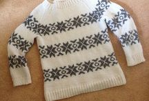 Sweaters with motif
