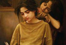 Iman Maleki e suas pinturas realistas ~ Pintor iraniano