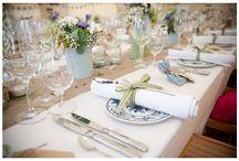 Dekoracje stołów i sali weselnej