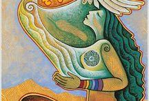 Inspirational Paintings of Divine Feminine