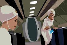2001. Odisea en el CIBERespacio / Gifs animados creados como tributo a la obra maestra de Stanley Kubrick con destino publicitario (oculto)