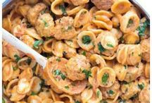 pasta mini chicken meatballs.