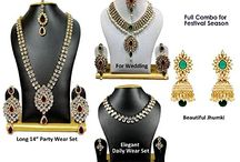 Kundan Wedding Beautiful Bridal Diwali Big sale Amazon Jewelry Set