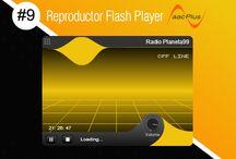 Reproductor Flash Player AACPlus #9 / Reproductor Flash Player AACPlus #9 Premium <CODE ORIGINAL> gratis de SurDataCenter®, Yellow, súper liviano. Reproductor audio streaming HE-AACPlus. (Sin logos, ni publicidad de terceros). www.surdatanet.net - www.moqueguahost.com - www.surdatacenter.com