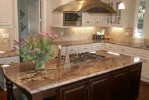 countertops and cabinets / by Leslie Burchett
