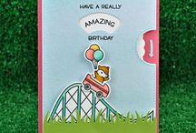 Card roller coaster stamp
