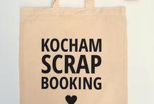 Scrap torba kocham scrapbooking / Boska scrap torba z bawełny ekologicznej