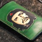 I Phone veg tan leather sleeve,full grain leather, phone case, natural, nude ,Che Guevara