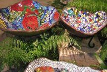 Мозаичные Купальни Для Птиц