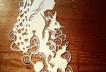papercut & cardboard / paper and cardboard works