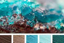 obývací pokoj - barevné palety