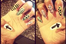 Nail Designs  / My twist on the Chanel design