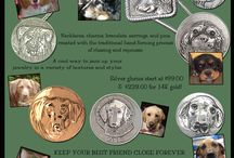 Pet Glories / Have your pet immortalized in hand chased silver or gold wearable art.